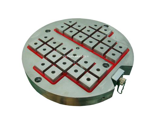圆形旋转台电控永磁吸盘